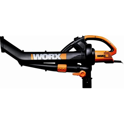Worx TriVac All-in-One Compact Electric Blower with Metal Impeller and 2-Step Mulcher