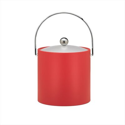 Bartender's Choice Fun Colors 3 Qt Ice Bucket in Red