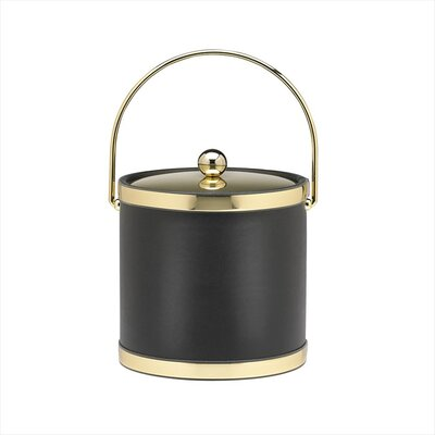 Sophisticates 3 Qt Ice Bucket with Bale Handle in Black