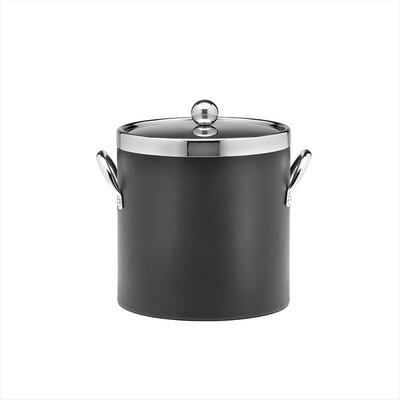Kraftware Soho 3 Qt Leatherette Ice Bucket in Black