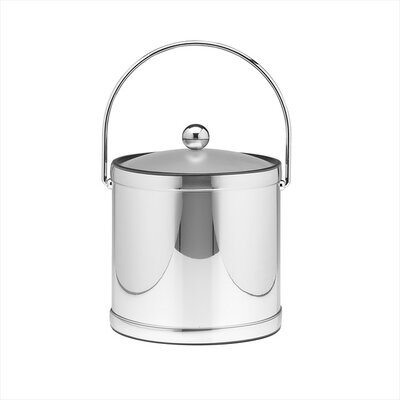 Mylar 3 Qt Ice Bucket with Lucite Cover in Polished Chrome