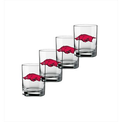 Kraftware Collegiate 14 Oz Arkansas Glass (Set of 4)