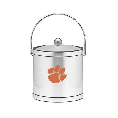 NCAA 3 Qt Ice Bucket in Brushed Chrome