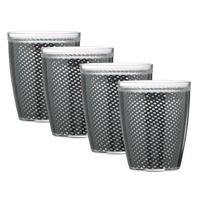 Kraftware Fishnet Doublewall Drinkware (Set of 4)