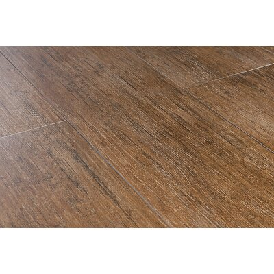 "Kaska Wood Grain Series 24"" x 6"" Porcelain Tile in Maple"
