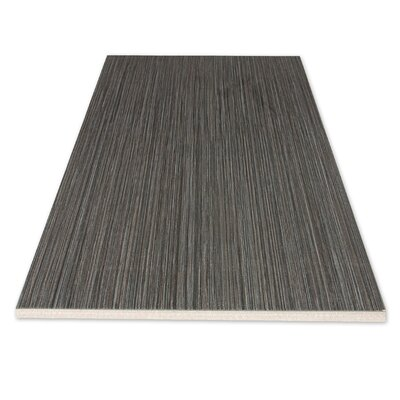 "Kaska Element Series 24"" x 12"" Porcelain Tile in Black"