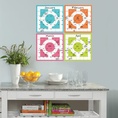 WallPops! Chroma Dry-Erase 4 Piece Calendar Set