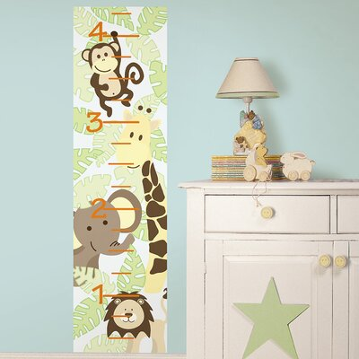 WallPops! Jungle Friends Growth Chart Growth Chart