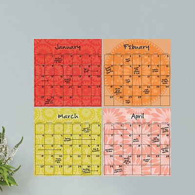 Dry-Erase 4 Piece Carnivalé Calendar Wall Decal