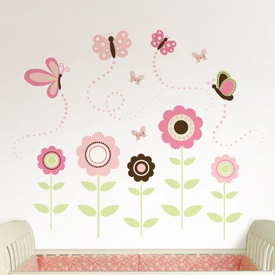 WallPops! Art Kit Butterfly Garden Wall Decal