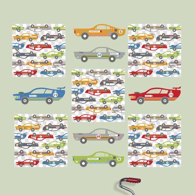 WallPops! Kids Rally Racers Wall Decal