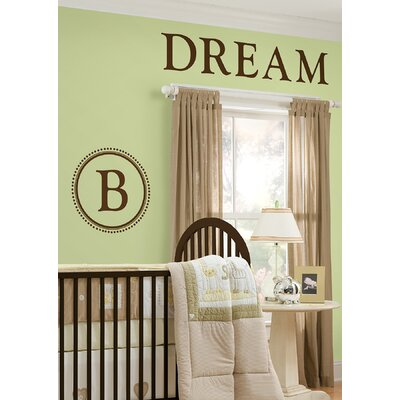 WallPops! Sheets Durham Espresso Brown Monogram and Alphabet Decal Set