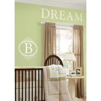 WallPops! Sheets Southampton Ivory White Monogram and Alphabet Decal Set