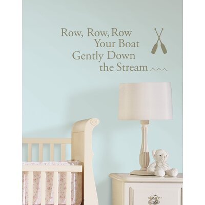 WallPops! Row Your Boat Baby Nursery Rhyme Wall Decal