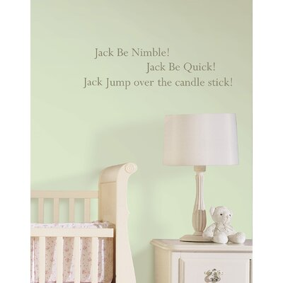 WallPops! Jack be Nimble Baby Nursery Rhyme Wall Decal