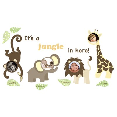WallPops! Art Kit Jungle and Friends Photo Frame Wall Decal