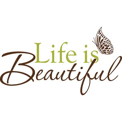WallPops! Art Kit Life is Beautiful Phrases Wall Decal
