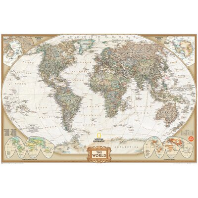 WallPops! Art Kit National Geographic World Map Wall Mural
