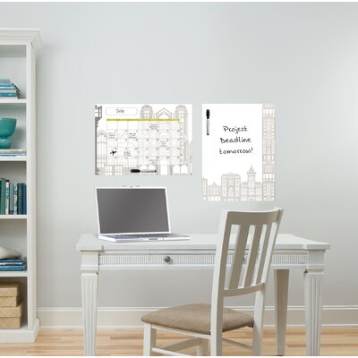 WallPops! Dry Erase Globe Trotter Message and Calendar Chalkboard Wall Decal