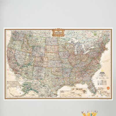WallPops! Wall Art Kit National Geographic USA Map Wall Decal