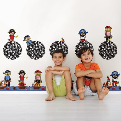 WallPops! Kids Argh Pirates Wall Decal Set