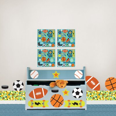 WallPops! Kids Junior Varsity Wall Decal Set
