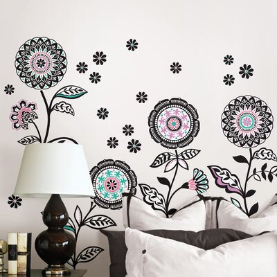 WallPops! Wall Art Floral Medley Large Wall Decal Kit
