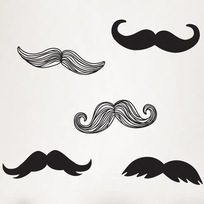 WallPops! Wall Art Mustache Small Wall Decal Kit