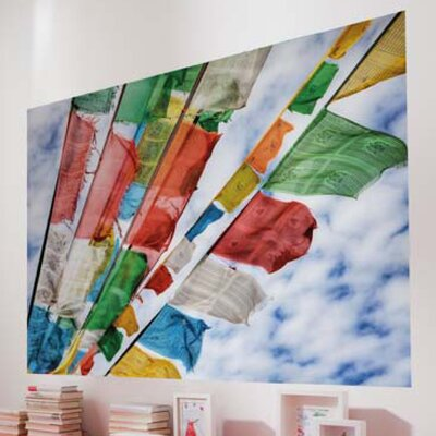 Komar Prayer Flags 1-Panel Wall Mural