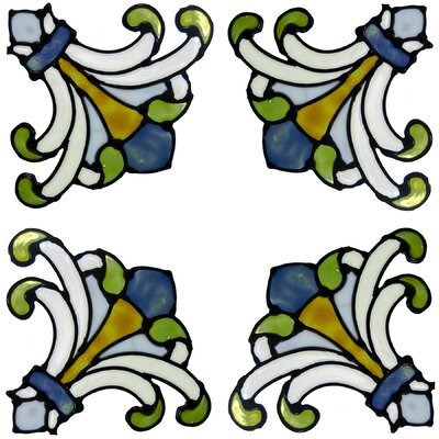 Brewster Home Fashions Medici Corners Stained Glass Appliqué