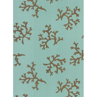 Brewster Home Fashions Destinations by the Shore Coral Wallpaper