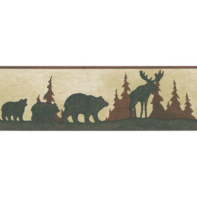 Brewster Home Fashions Northwoods Tin Silhouette Border Wallpaper