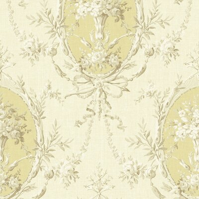 Willow Cottage Cameo Floral Wallpaper in Beige