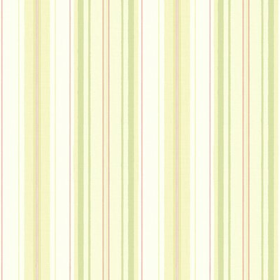 Willow Cottage Stripe Wallpaper in Pastel