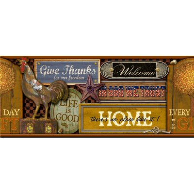 Brewster Home Fashions New Country Signs Border Wallpaper