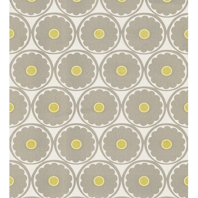 Echo Design Retro Flower Wallpaper in Gray