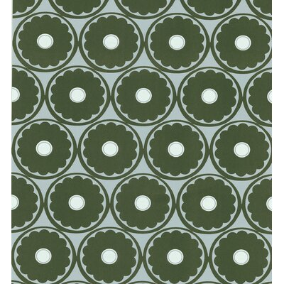 Echo Design Retro Flower Wallpaper in Espresso
