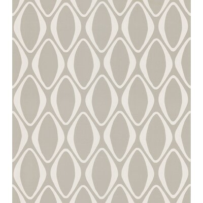 Brewster Home Fashions Echo Design Diamond Geometric Wallpaper in Cream / Gray