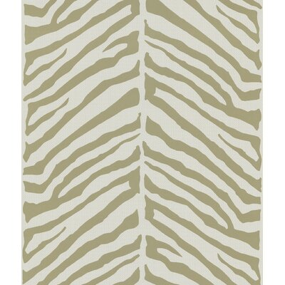 Brewster Home Fashions Echo Design Herringbone Tan Zebra Design Over with Tonal Cream Wallpaper
