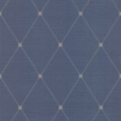 Joseph Abboud Designed Diamond Harlequin Wallpaper in Deep Blue