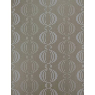 Verve Retro Orb Wallpaper in White / Champagne