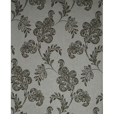 Verve Jacobean Wallpaper in Tonal Gray