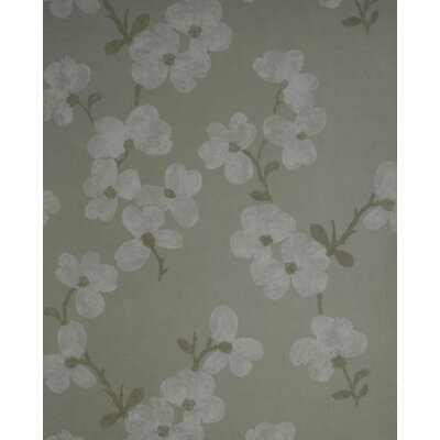 Brewster Home Fashions Verve Blossom Wallpaper in Lightened Gray