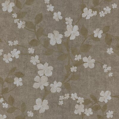 Salon Floral Trail Wallpaper in Champagne Silver
