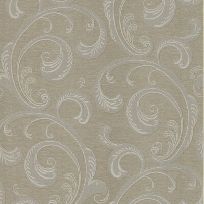 Brewster Home Fashions Serene Scroll Wallpaper in Café Brown