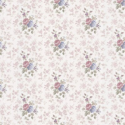 Satin Rose Monotone Rose Wallpaper