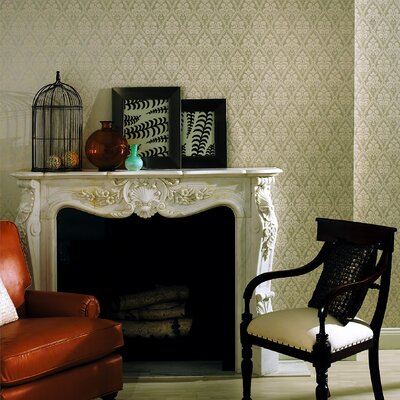 Brewster Home Fashions Echo Design Echo Damask Wallpaper in Cream / Light Silver