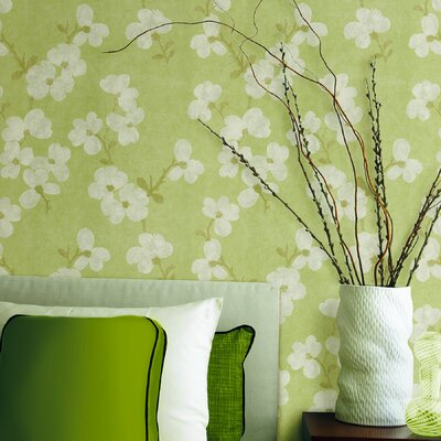 Brewster Home Fashions Verve Blossom Wallpaper in Minted Green