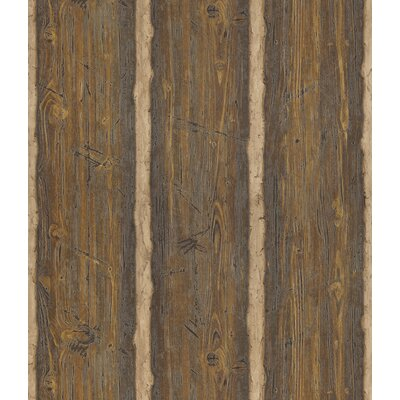Northwoods Firewood Stripe Wallpaper