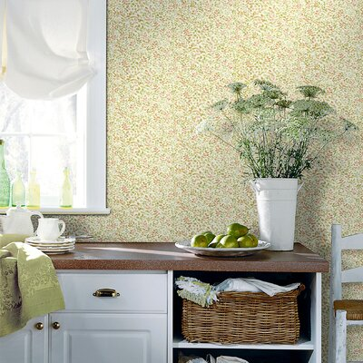Brewster Home Fashions Kitchen and Bath Resource II Leaf Toss Wallpaper in Dark Color